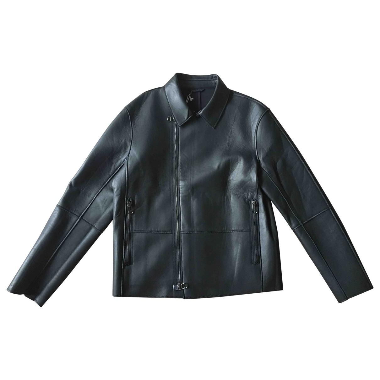 Calvin Klein - Vestes.Blousons   pour homme en cuir - noir