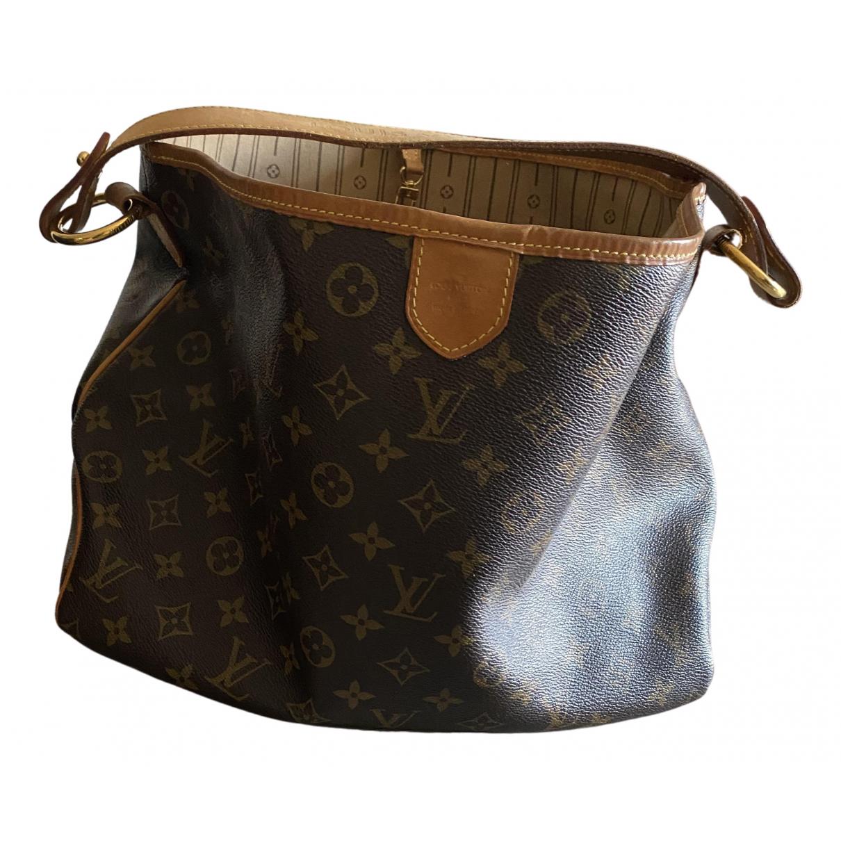 Louis Vuitton Delightful Handtasche in  Braun Leinen