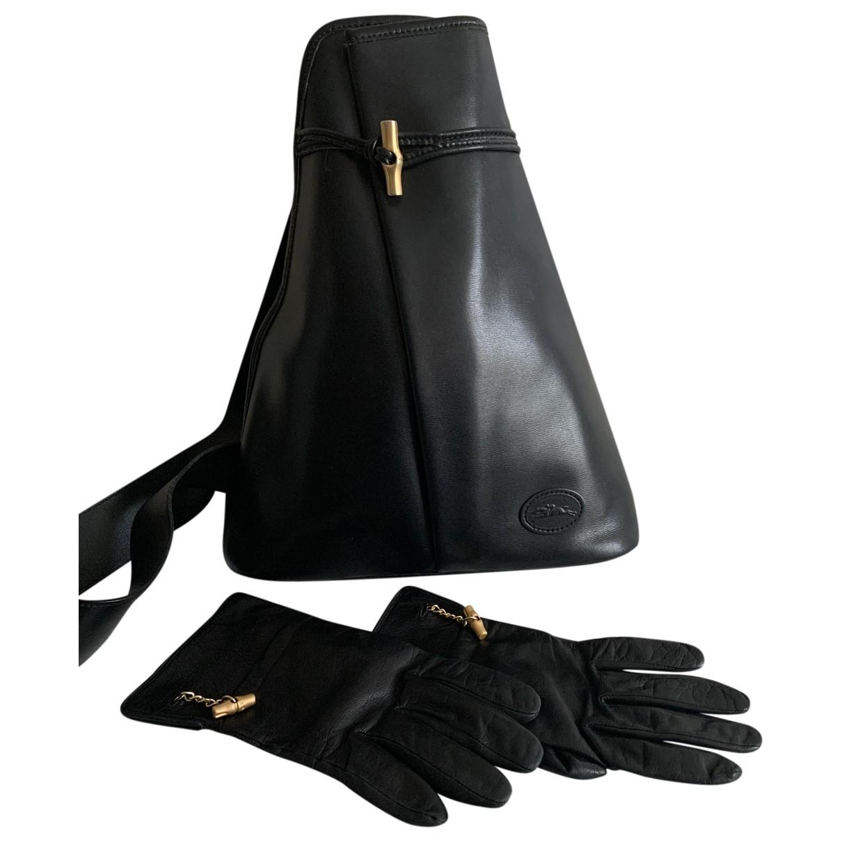 Longchamp Roseau Black Leather handbag for Women \N