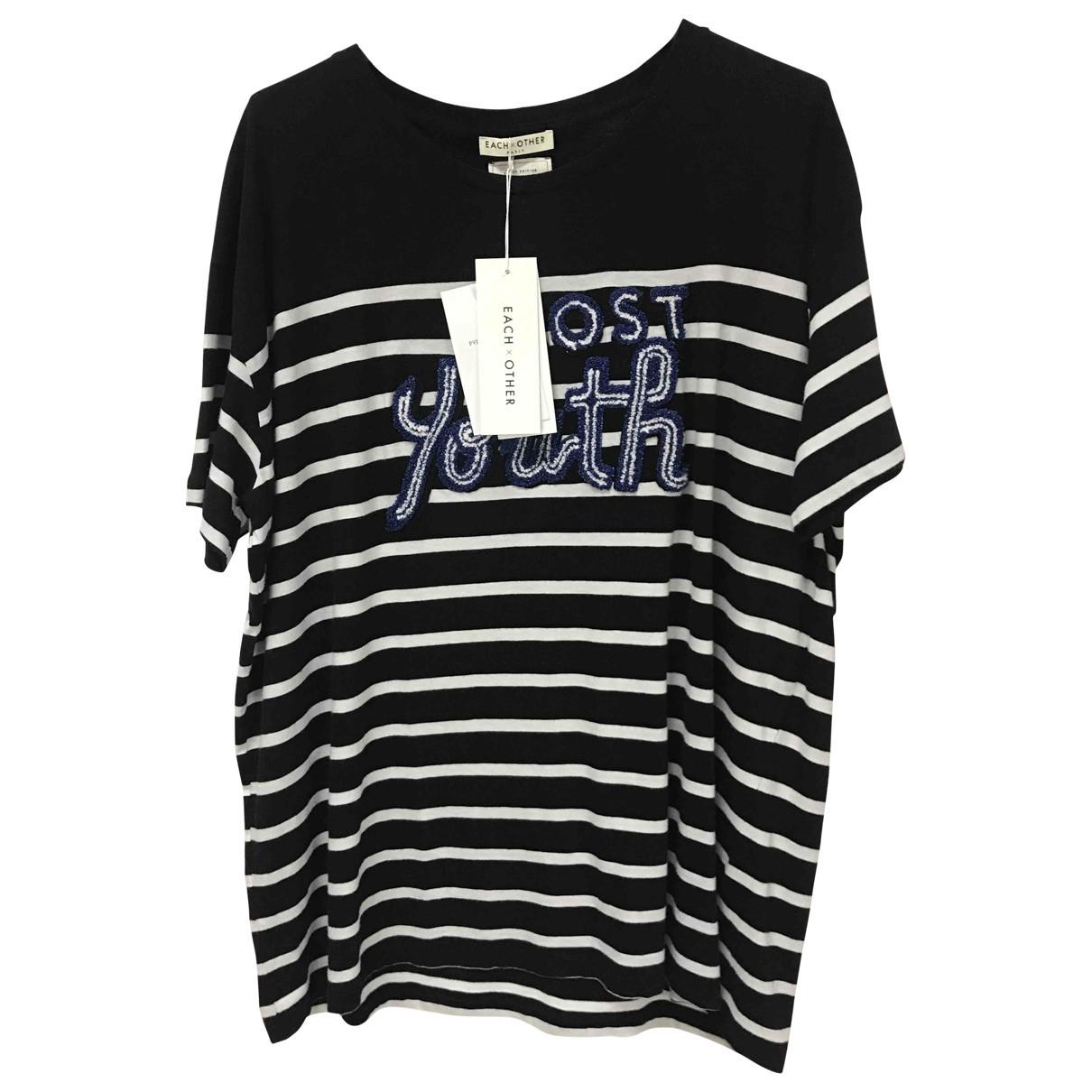 Each X Other - Tee shirts   pour homme en coton - noir