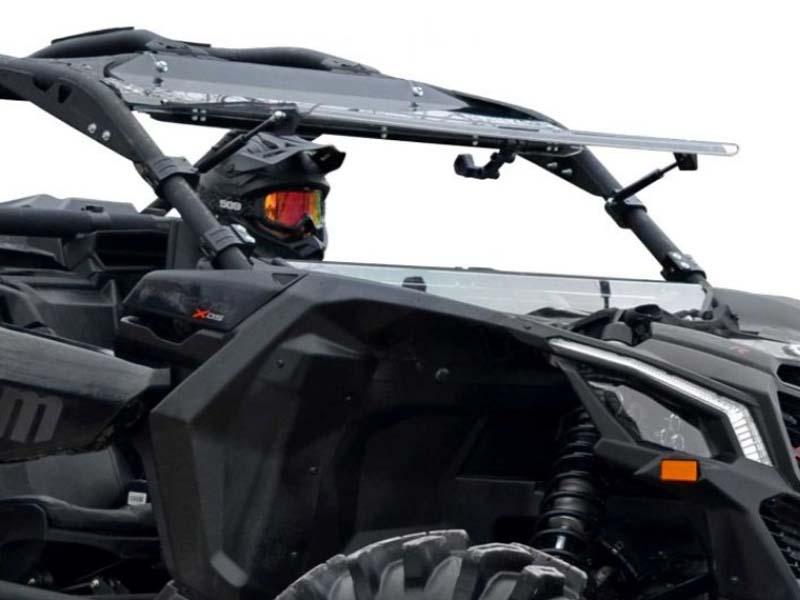 SuperATV FWS-CA-X3-70 Scratch Resistant Flip Windshield Can-Am Maverick X3 900 2018+