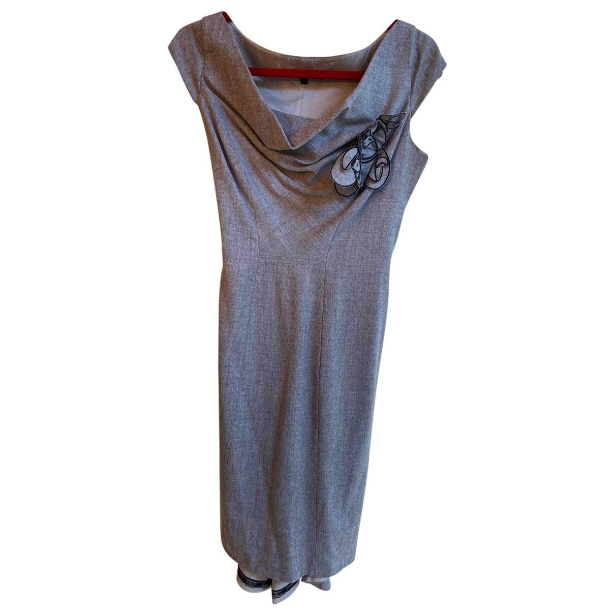 Coast \N Kleid in  Grau Wolle