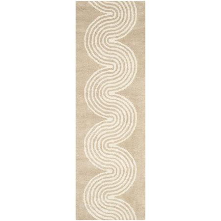 Safavieh Zachariah Geometric Hand Tufted Wool Rug, One Size , Beige
