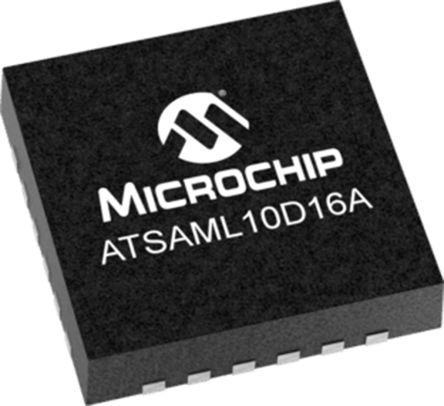 Microchip ATSAML11D16A-MU, 32bit Microcontroller, SAML11, 32MHz, 64 kB Flash, 24-Pin VQFN (490)