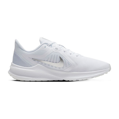 Nike Downshifter 10 Womens Running Shoes, 7 1/2 Medium, White