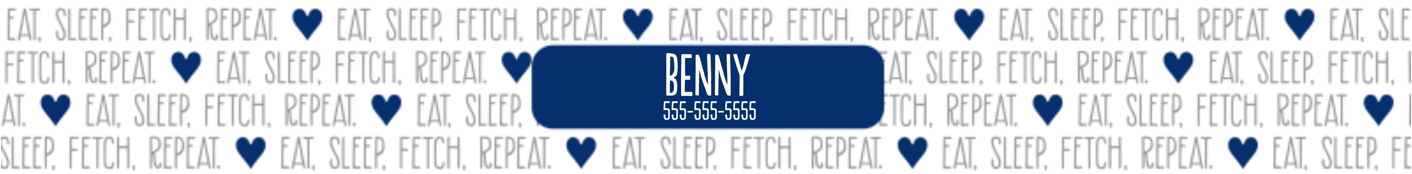 Featured Large Pet Collar, Gift -Eat Sleep Fetch Repeat