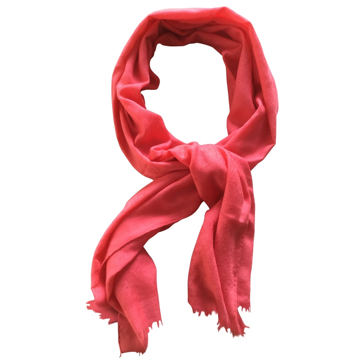 Louis Vuitton Châle Monogram Red Cashmere scarf for Women \N