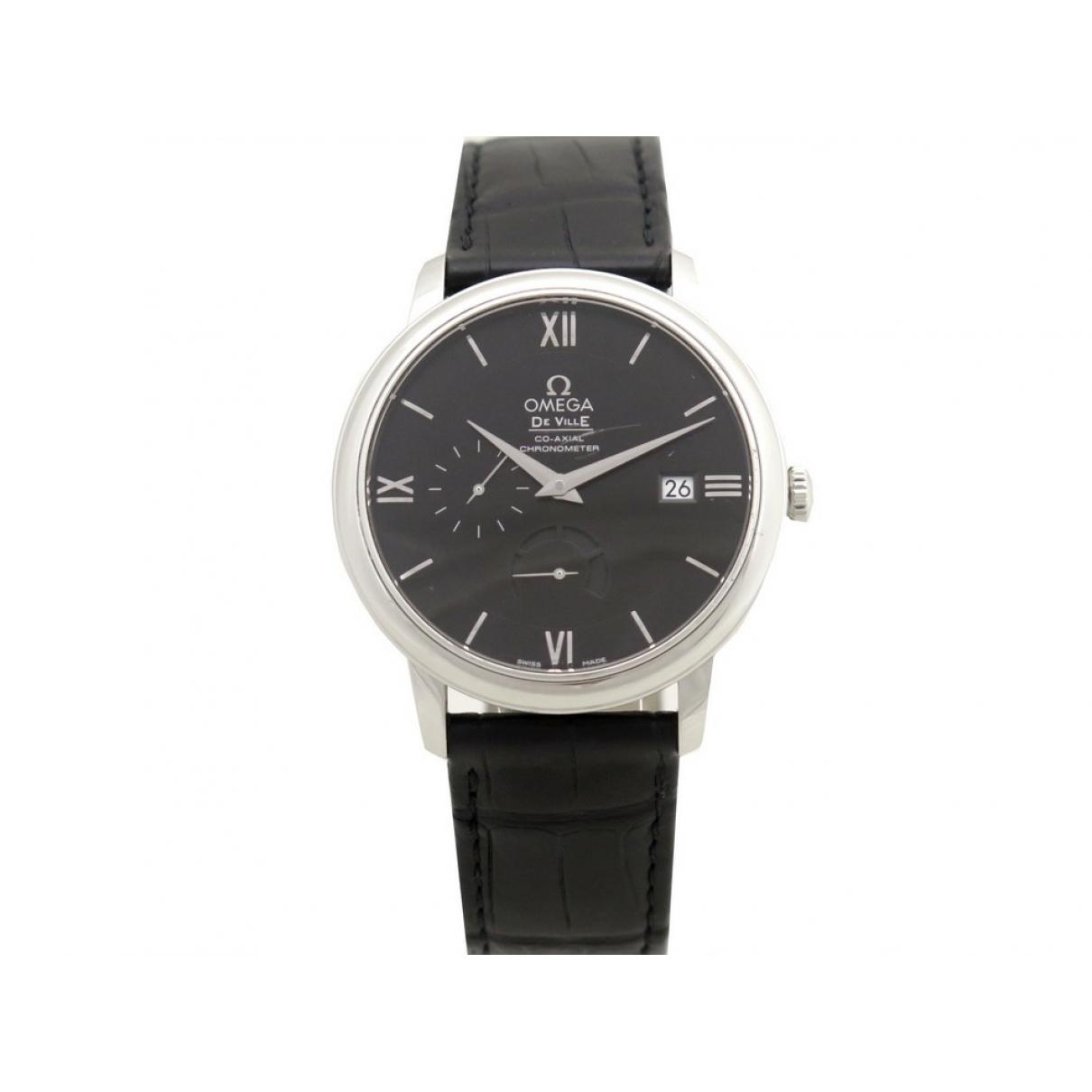 Omega De Ville  Uhr in  Schwarz Stahl
