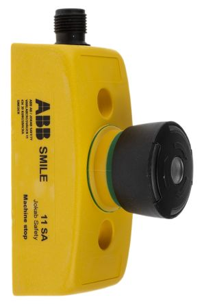 ABB Jokab Panel Mount Mushroom Head Emergency Button - 2NC, Turn To Release, 32mm, 32.2mm, Black