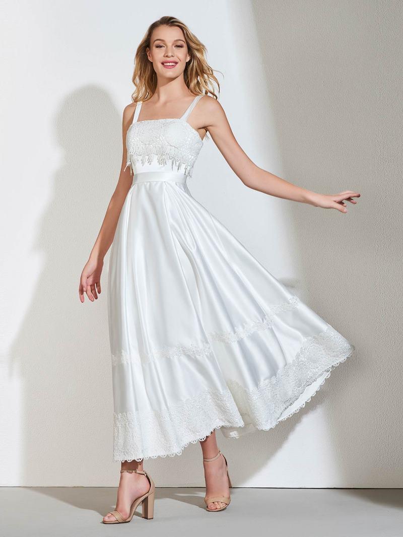 Ericdress A Line Straps Bridesmaid Dress