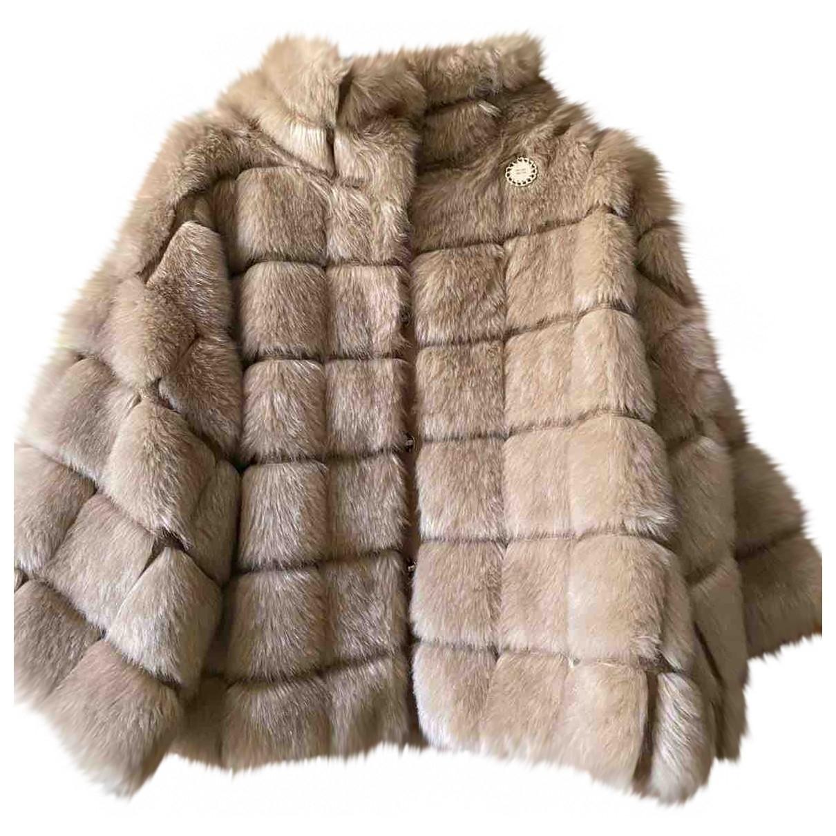 Elisabetta Franchi \N Beige Faux fur jacket for Women 40 IT