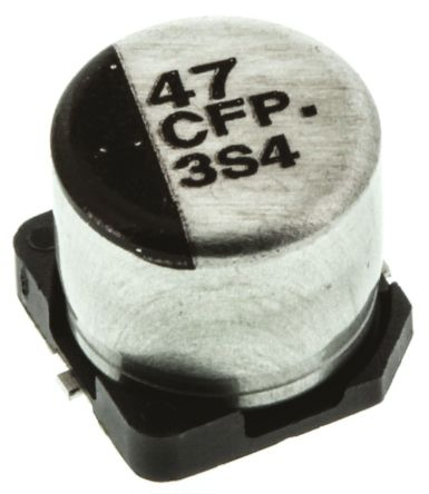 Panasonic 47μF Electrolytic Capacitor 16V dc, Surface Mount - EEEFP1C470AP (5)