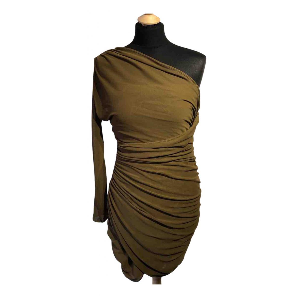 Zara - Robe   pour femme en coton - kaki