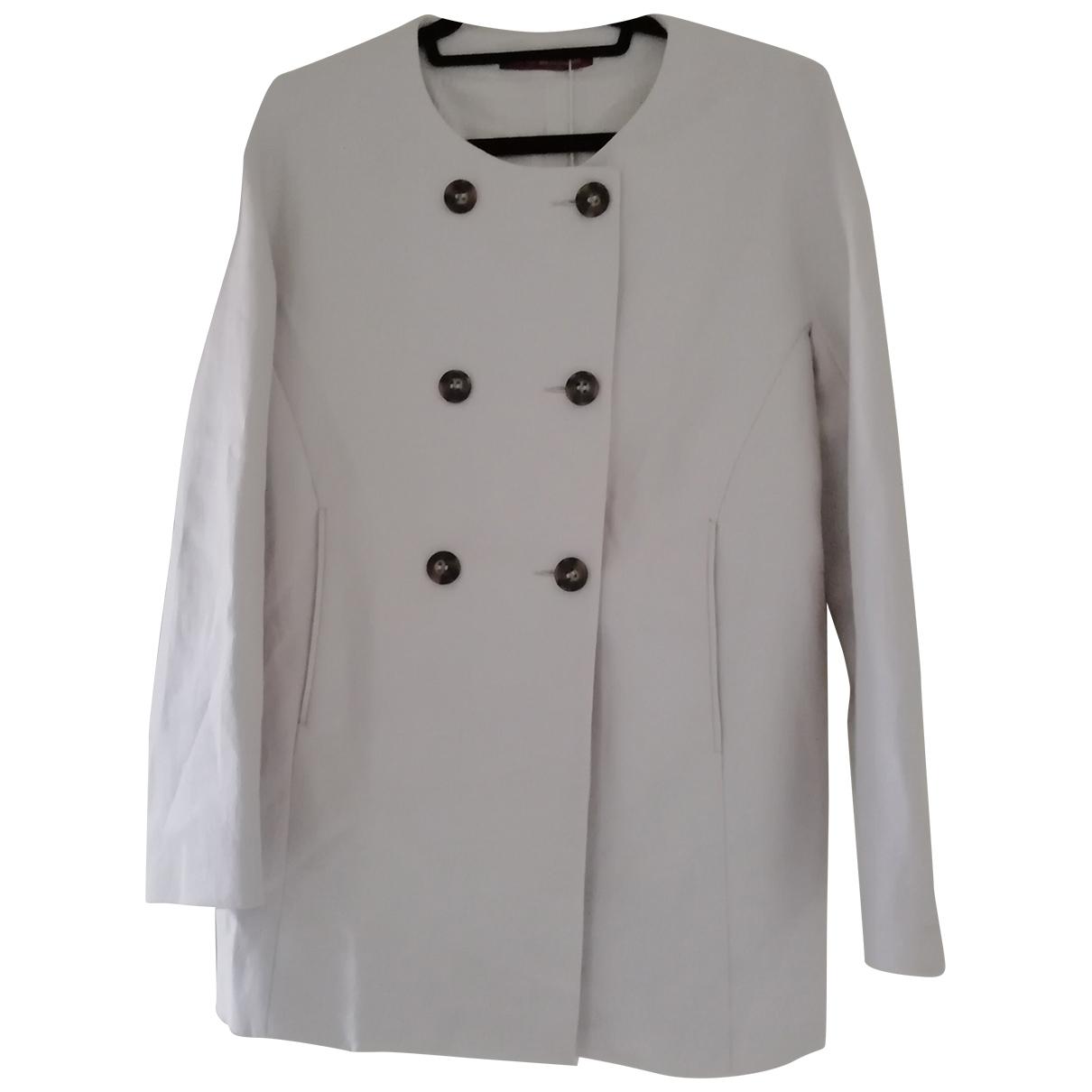 Comptoir Des Cotonniers \N Ecru Cotton coat for Women 38 FR