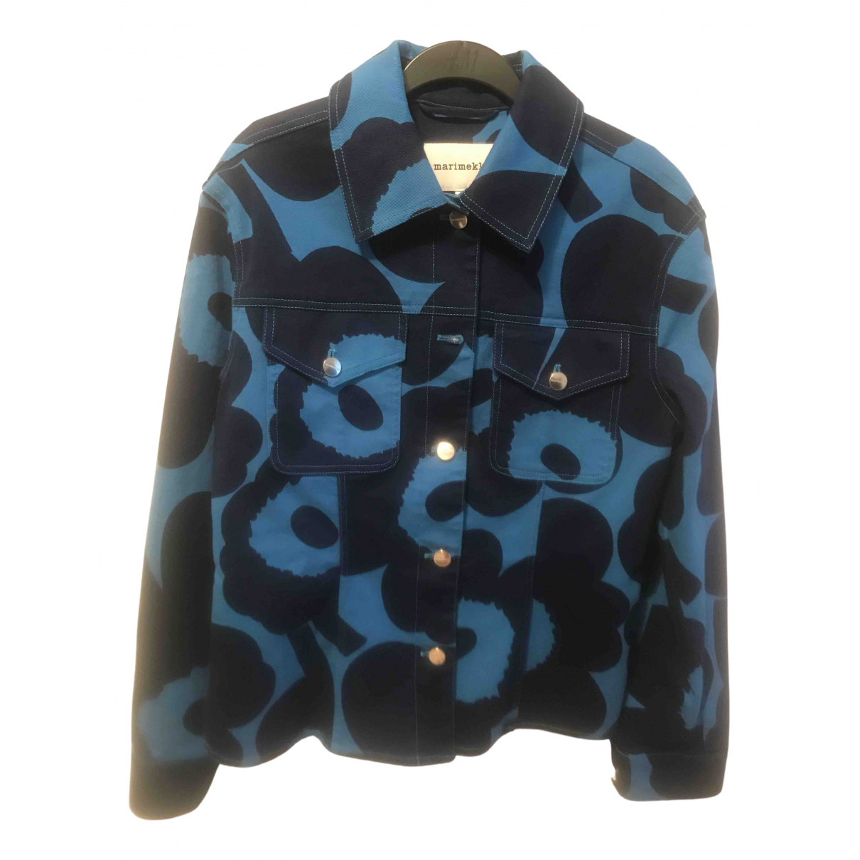 Marimekko - Veste   pour femme en coton - bleu