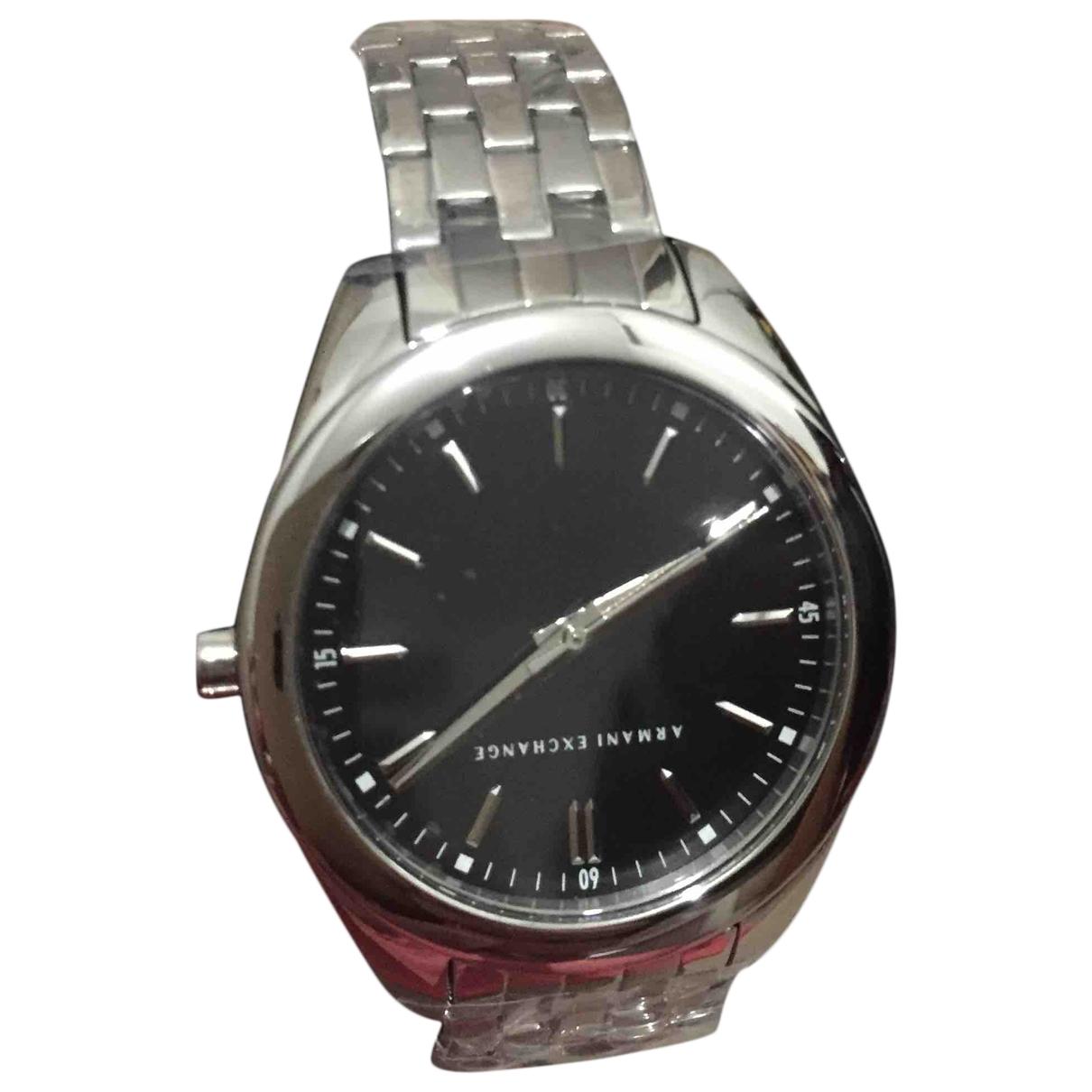 Emporio Armani \N Uhr in  Silber Stahl