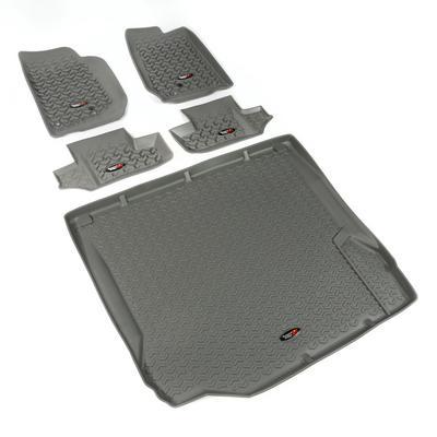 Rugged Ridge All Terrain Floor Liner Kit (Gray) - 14988.02