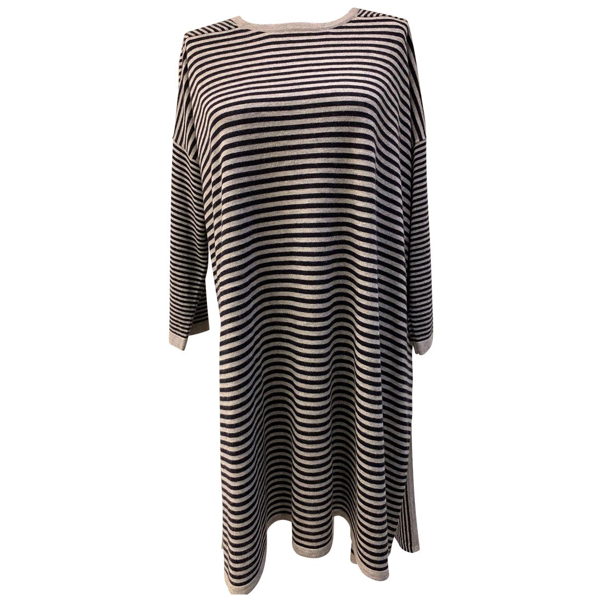 Max Mara - Pull   pour femme en soie - gris