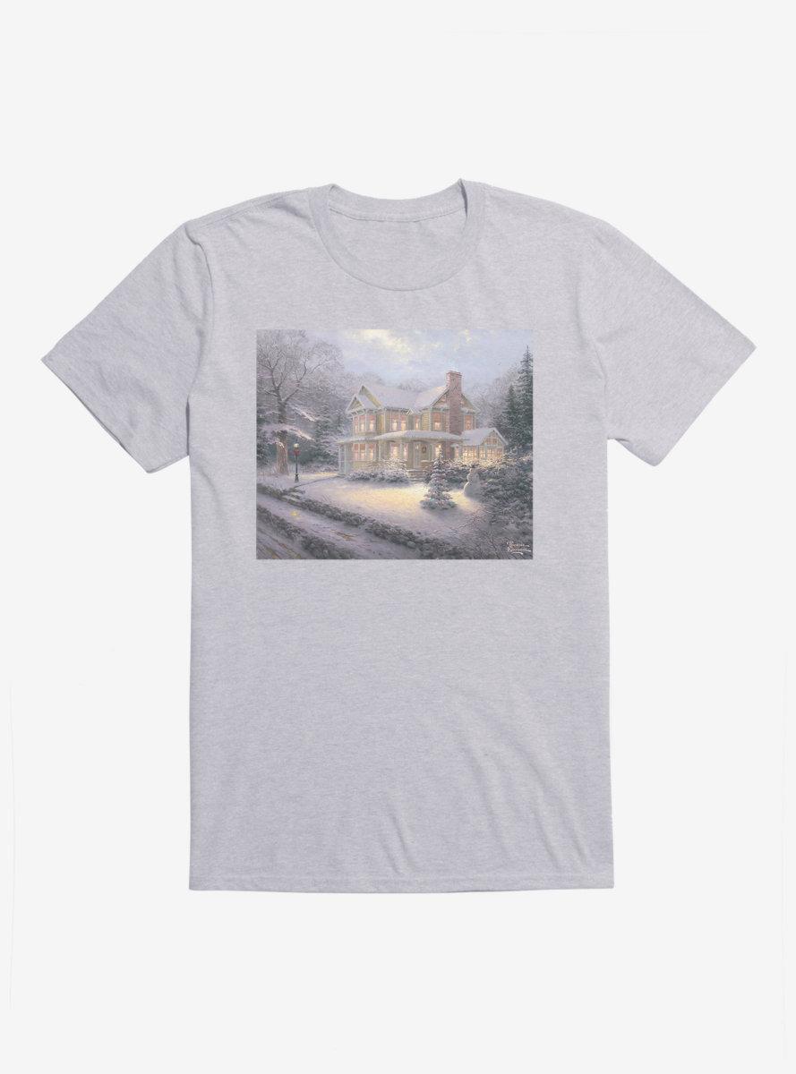 Thomas Kinkade Victorian Christmas House T-Shirt