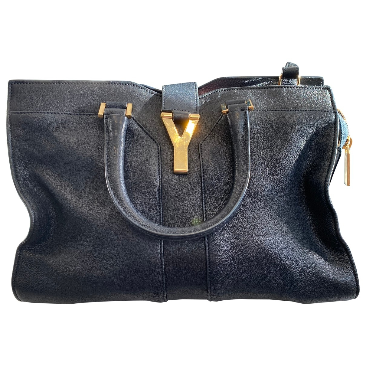 Yves Saint Laurent Chyc Navy Leather handbag for Women \N