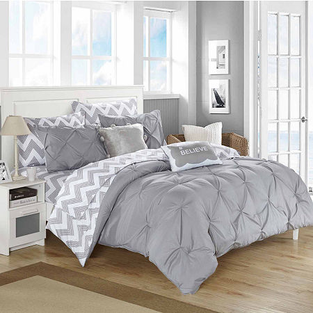 Chic Home Louisville 9-pc. Comforter Set, One Size , Gray