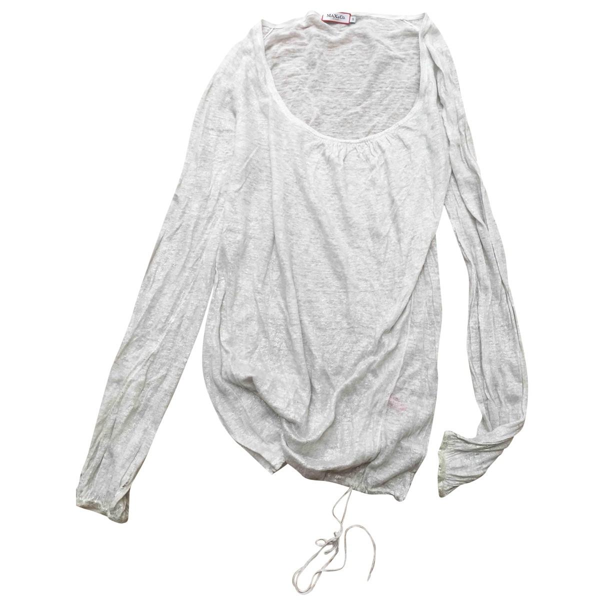 Max & Co - Vetements   pour femme en lin - blanc