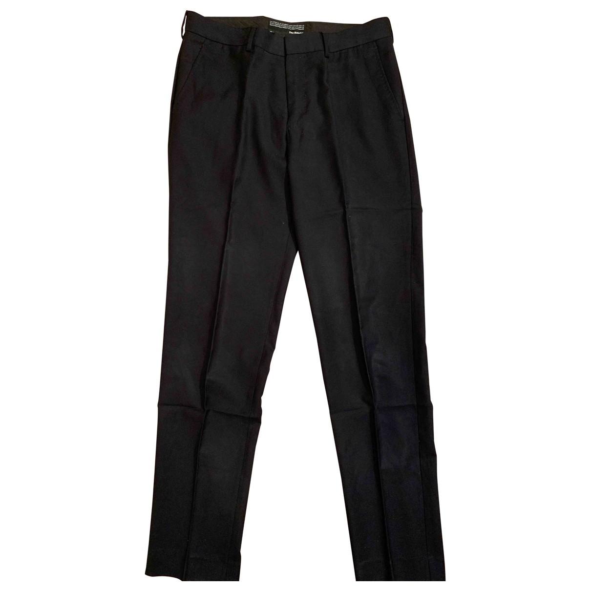 The Kooples \N Black Cotton Trousers for Men 46 FR