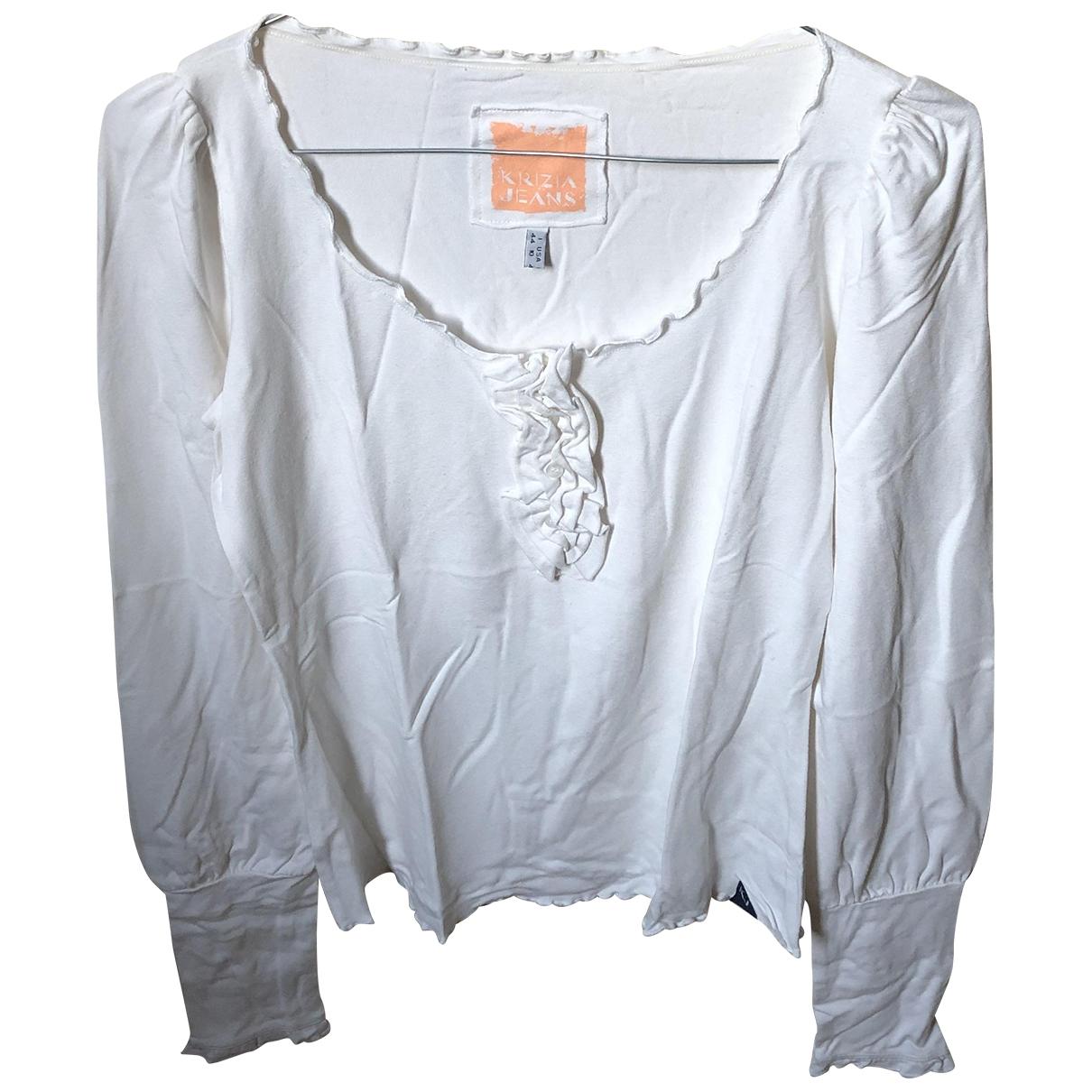 Krizia \N Beige Cotton  top for Women 44 IT