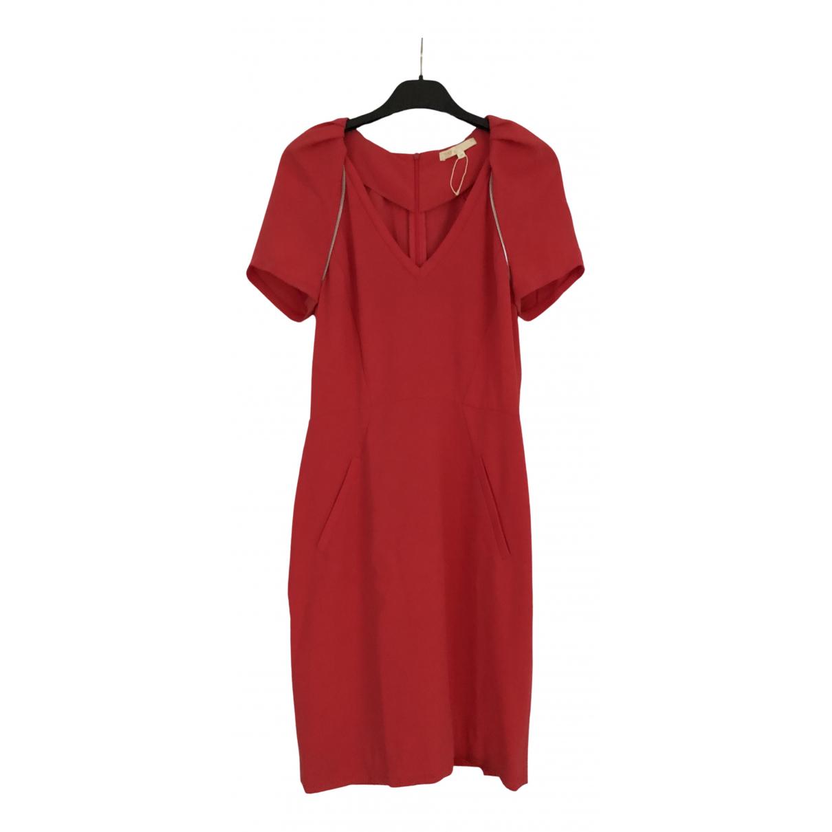 Maje \N Kleid in  Rot Synthetik
