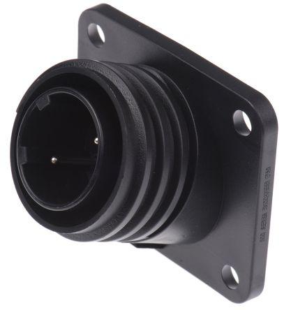 Bulgin Connector, 2 contacts Flange Mount Plug, Screw IP68, IP69K
