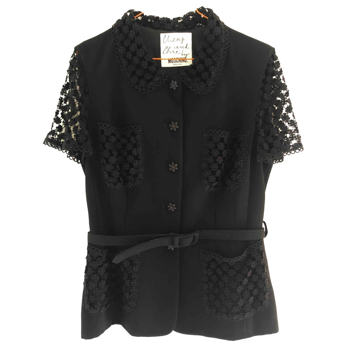 Moschino Cheap And Chic \N Jacke in  Schwarz Synthetik