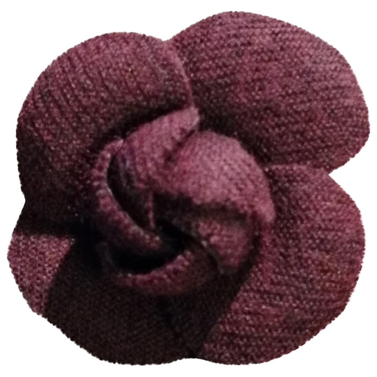 Chanel Camélia Brown Cloth Pins & brooches for Women \N