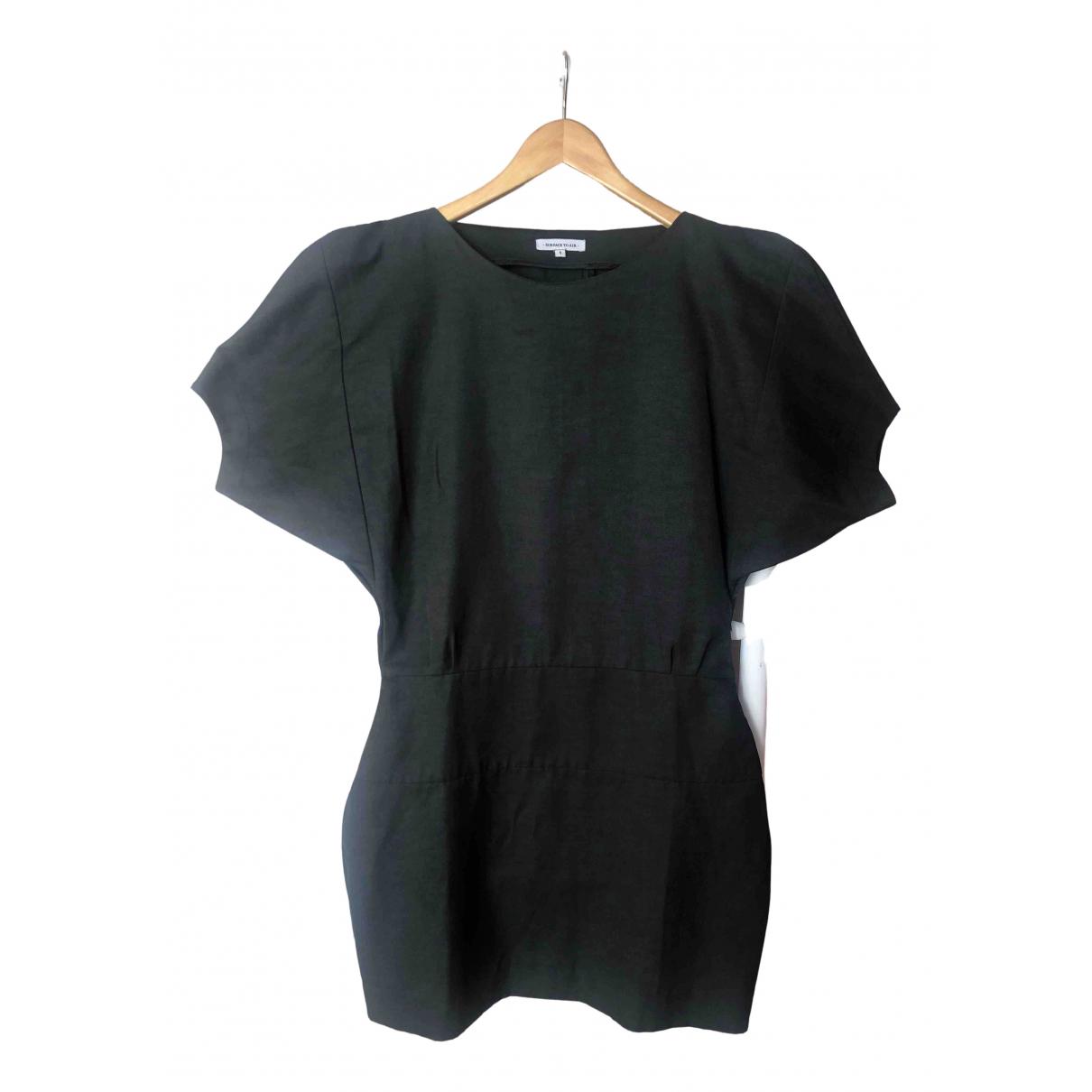 Surface To Air - Robe   pour femme en coton - noir