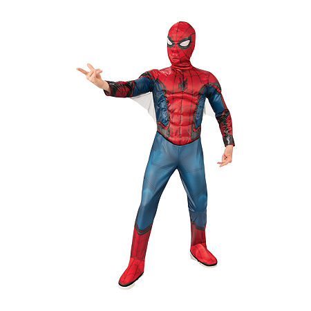 Marvel Spiderman Costume - Boys, X-small , Red