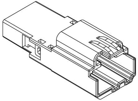 Molex , H-DAC 64 Male Connector Housing, 2.54mm Pitch, 3 Way, 1 Row (5)