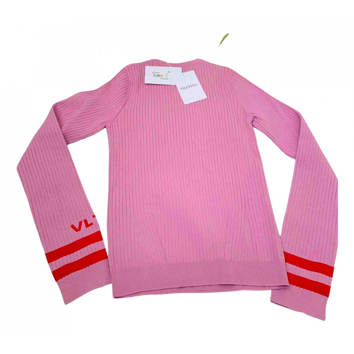 Valentino Garavani \N Pullover in  Rosa Viskose