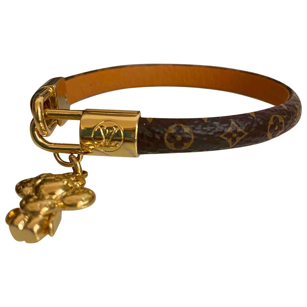 Louis Vuitton - Bracelet Monogram pour femme en cuir - marron