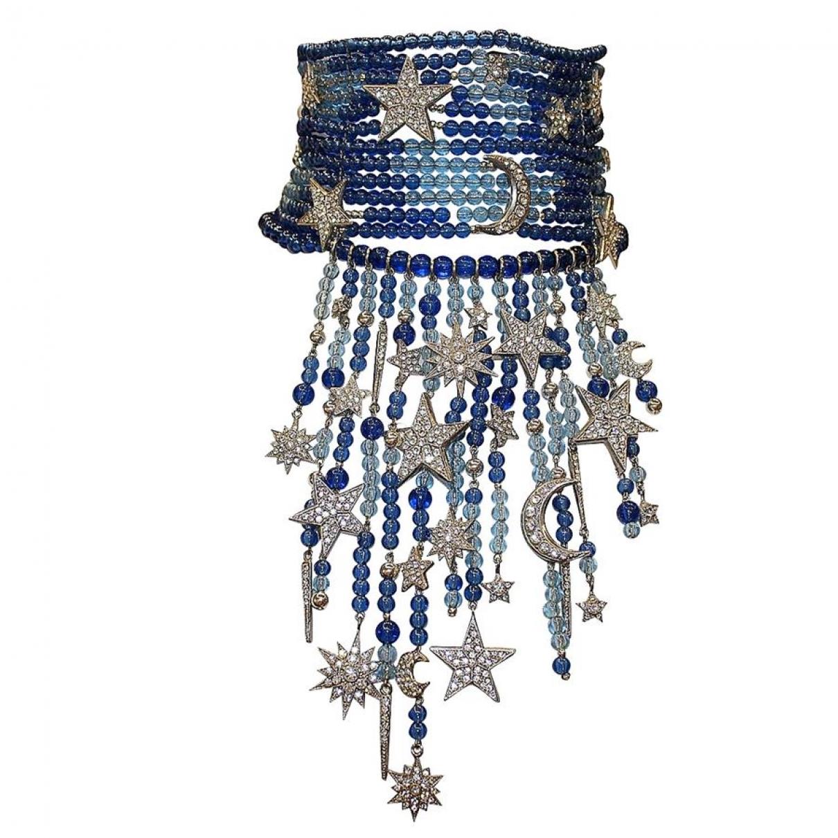 Carlo Zini - Collier   pour femme en perles - bleu