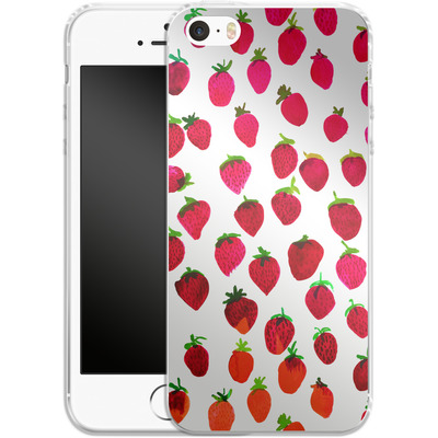 Apple iPhone 5 Silikon Handyhuelle - Strawberries von Amy Sia