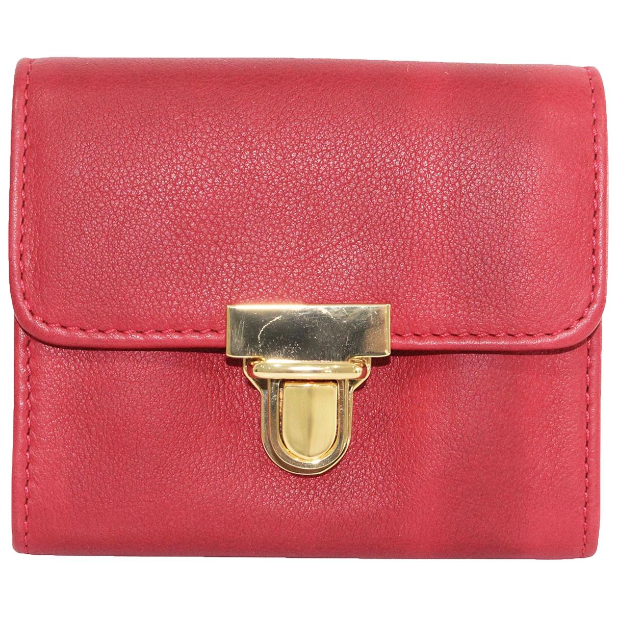 Marni - Portefeuille   pour femme en cuir - rouge
