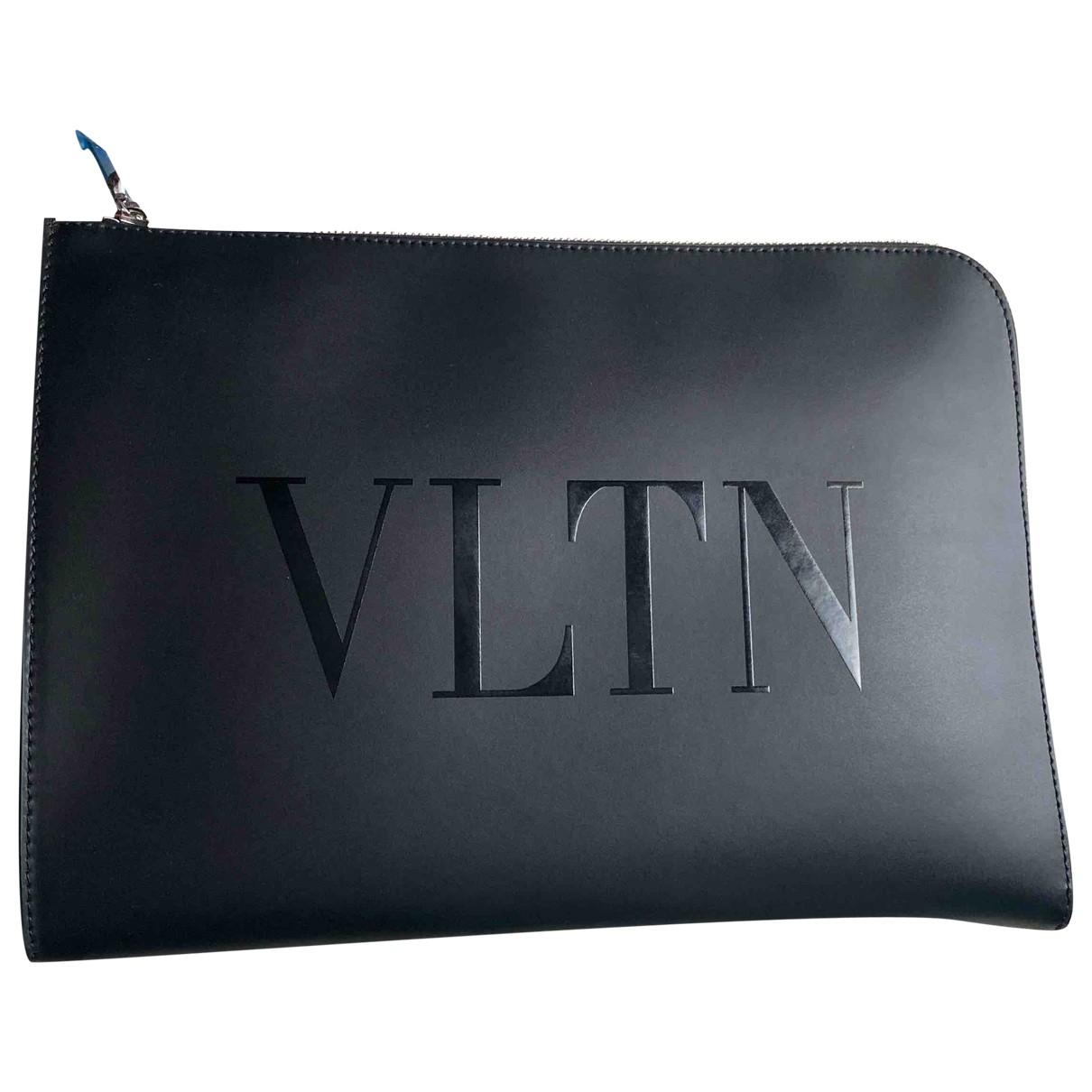 Valentino Garavani - Petite maroquinerie   pour homme en cuir - noir