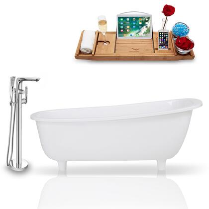 KH1686-120  63'' Freestanding Tub  Faucet  and Tray