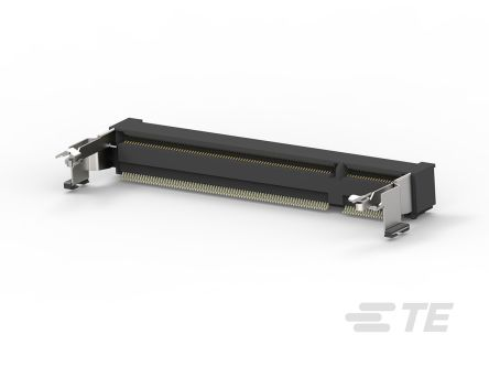 TE Connectivity 0.6mm Pitch 200 Way, Right Angle SMT Mount SO DIMM Socket ,2.5 V ,500mA (20)
