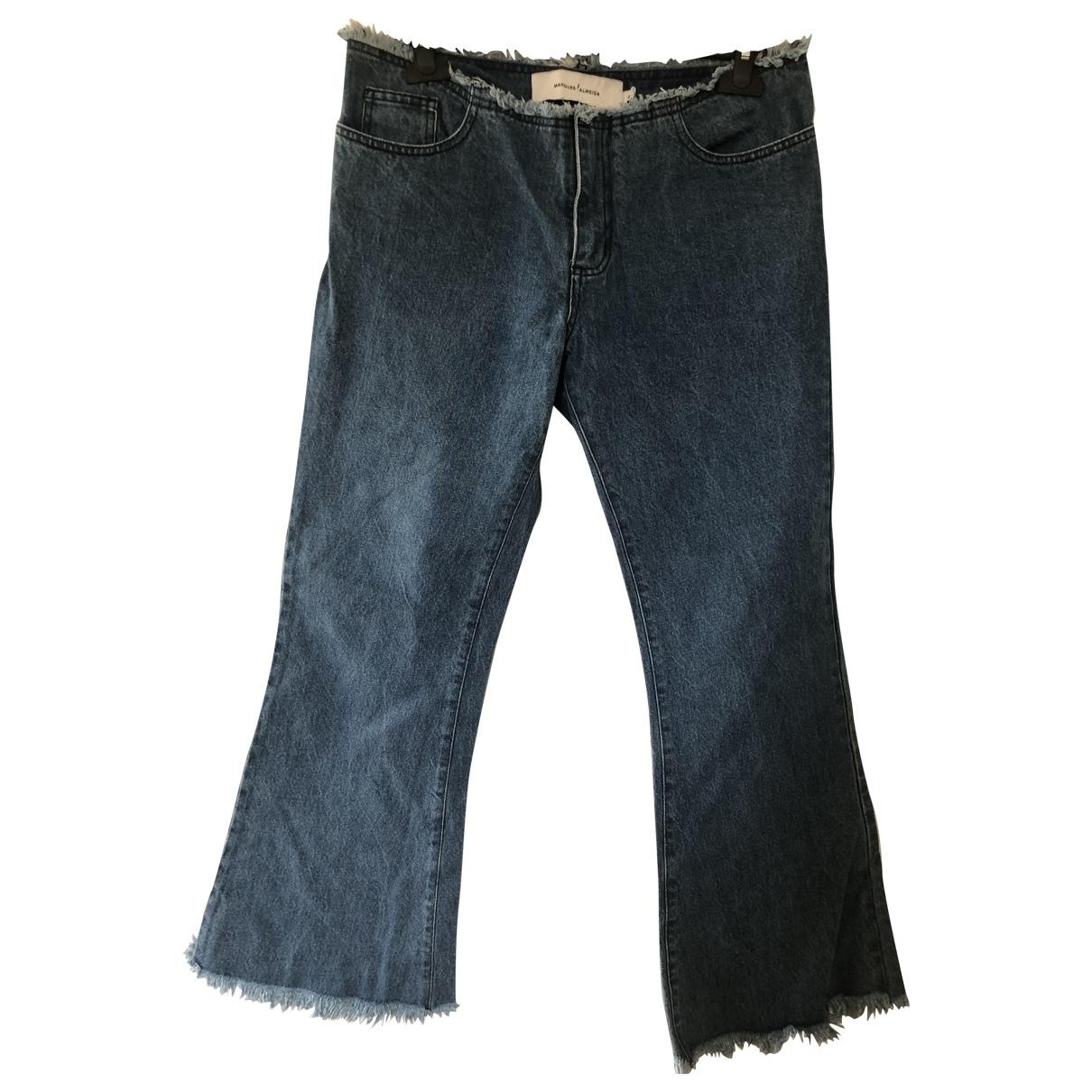 Marques Almeida \N Blue Denim - Jeans Jeans for Women 28 US