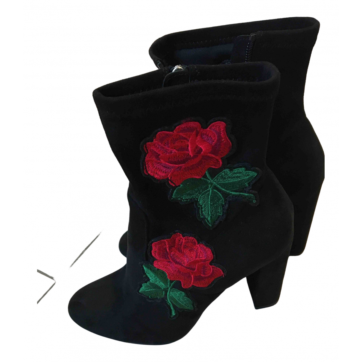Steve Madden \N Black Suede Heels for Women 38.5 EU