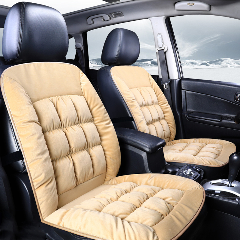 Soft and Flexible Light Plain Warm Single-seat Universal Car Seat Cover