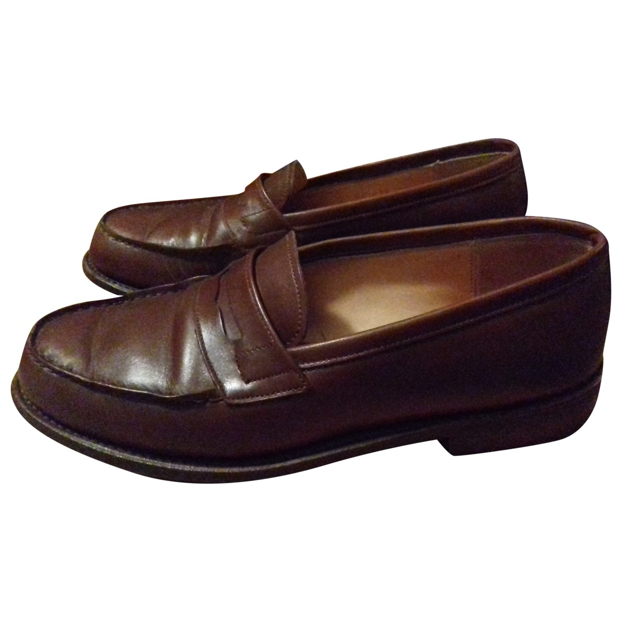 Paraboot \N Brown Leather Flats for Women 36 EU
