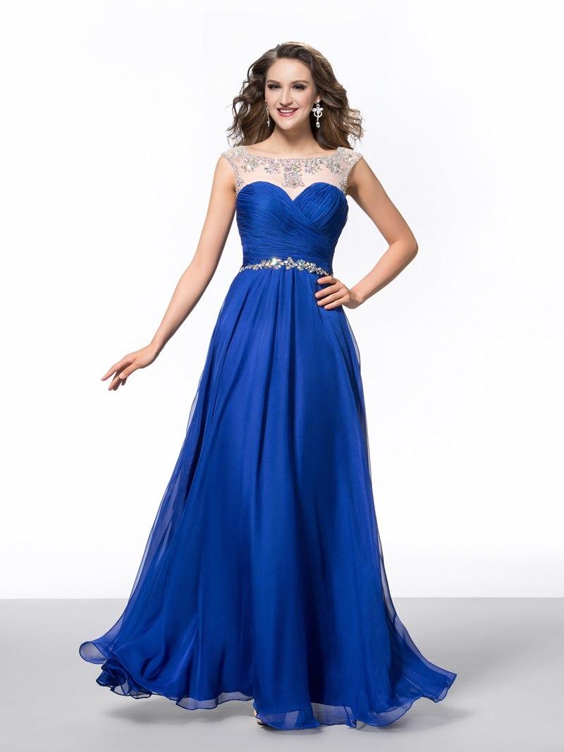 Ericdress Straps Pleats Beading Prom Dress