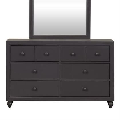 Cottage View Collection 423-BR30 Dresser with Kenlin Drawer Glides  Picture Frame Solid Wood Case Moldings    and Laminate Drawer Interior in Dark