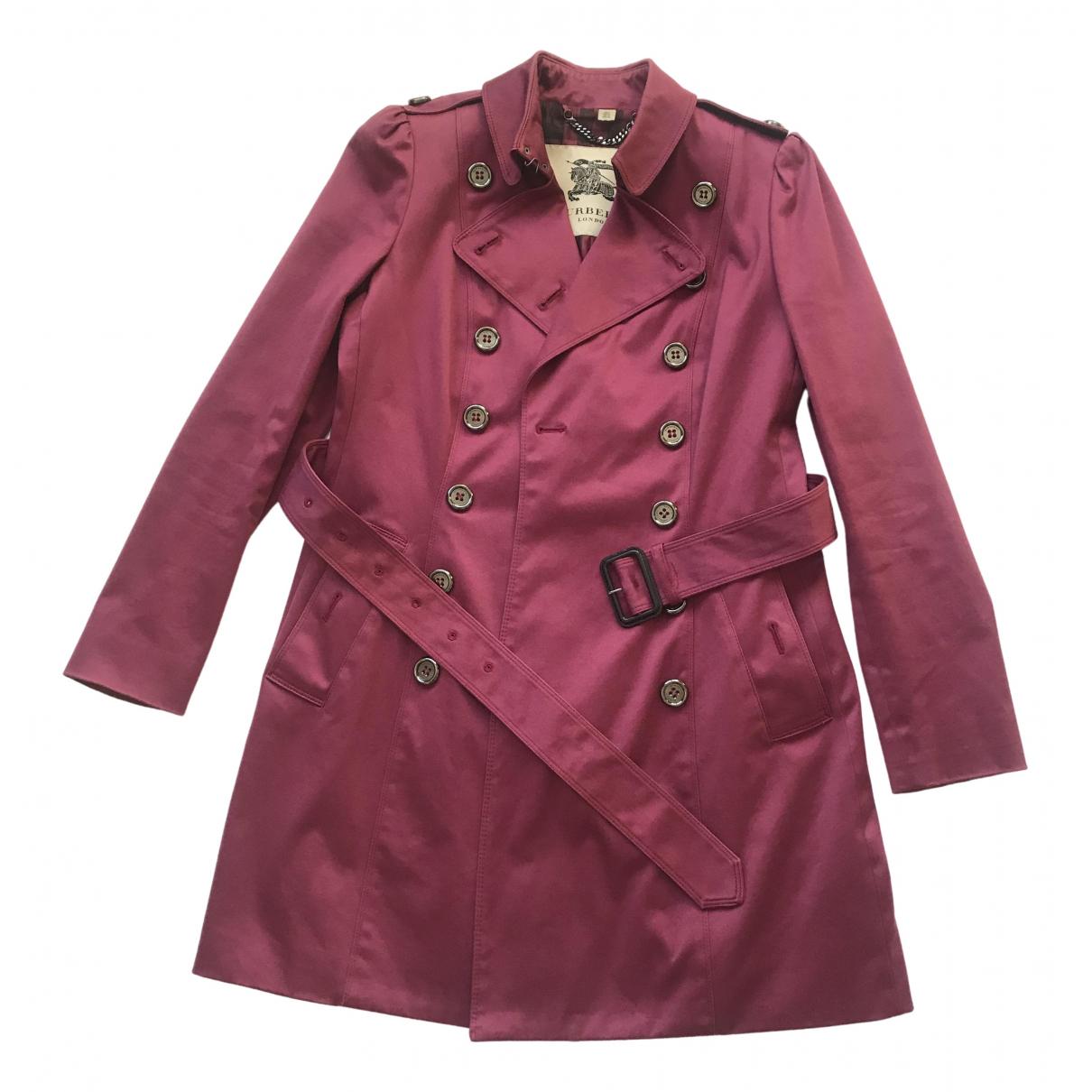 Burberry - Trench   pour femme en coton - violet